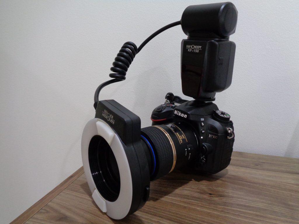 口腔内撮影に用いる一眼レフカメラ